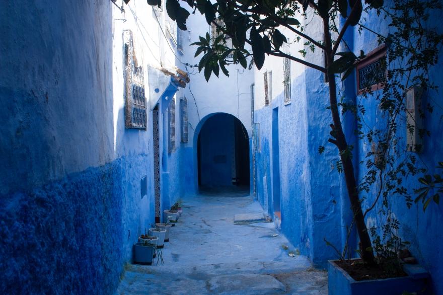 Chefchaouen deep blue