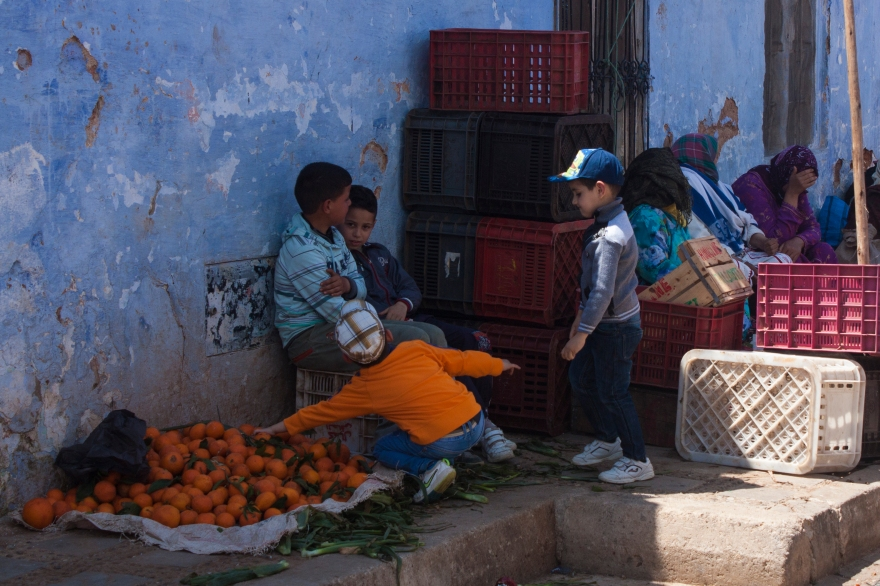 Chefchaouen orange