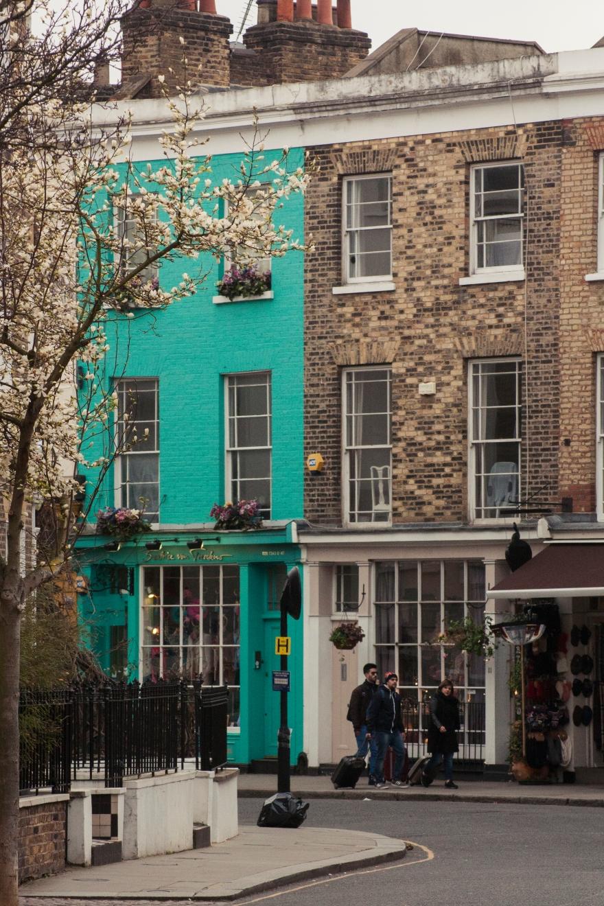 London - green and brick