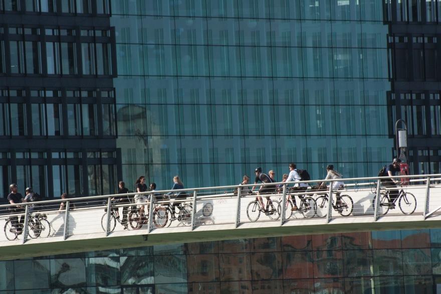 Copenhagen bike bridge